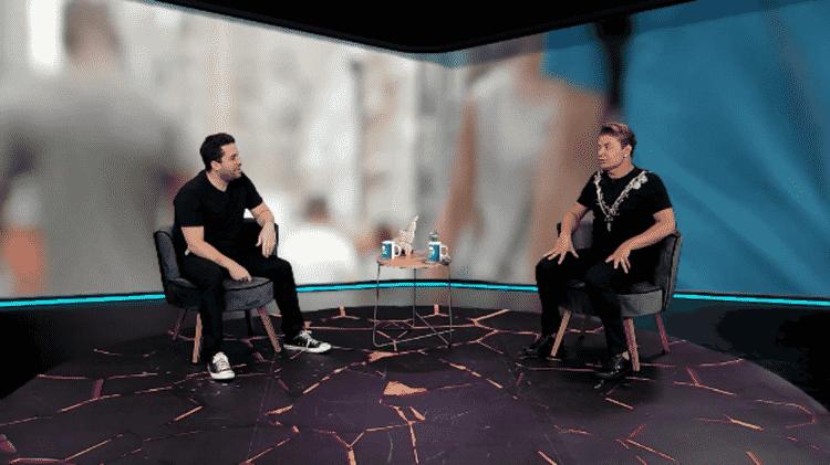 Maurício Meirelles recebe David Brazil em seu programa na RedeTV! - Divulgação/RedeTV! - Divulgação/RedeTV!