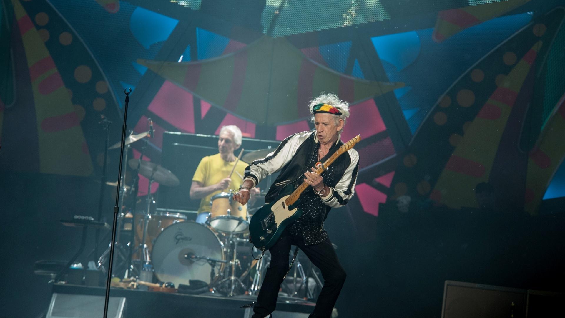 2.mar.2016 - Em Porto Alegre, Rolling Stones fazem 4º show e se despedem do Brasil. A banda abriu a apresentação com