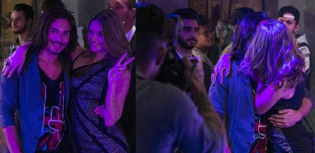 """Cassandra tasca um beijo em cantor famoso - Reprodução/""""Totalmente Demais""""/Gshow"""