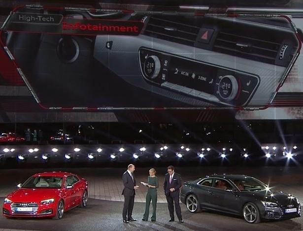 Nova geração do Audi A5 foi revelada nesta quinta (2) em Ingolstadt, na sede da marca - Reprodução/Facebook