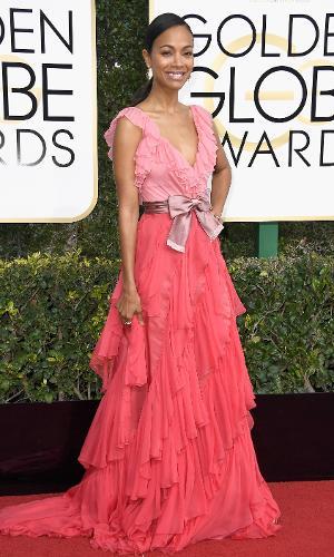 Globo de Ouro 2017: Zoe Saldana