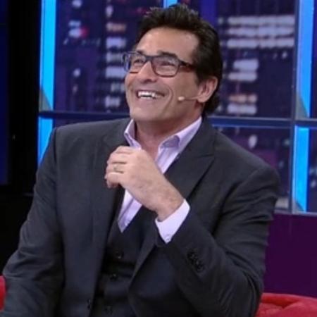 """Luciano Szafir no """"Luciana By Night"""" - Reprodução/RedeTV!"""