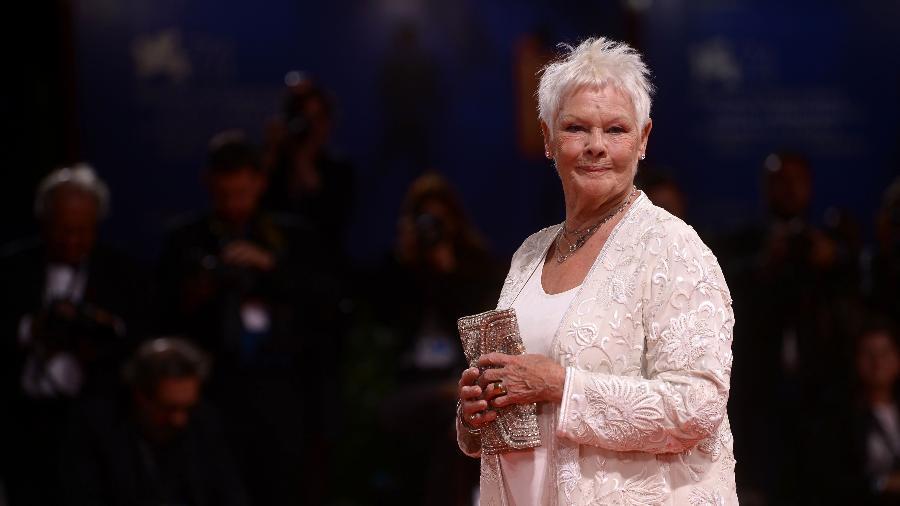 """A atriz Judi Dench durante exibição do filme """"Victoria e Abdul"""" - Filippo Monteforte/AFP"""