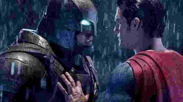 Henry Cavill e Ben Affleck em cena de 'Batman vs Superman: A Origem da Justiça' (2016) - Reprodução - Reprodução