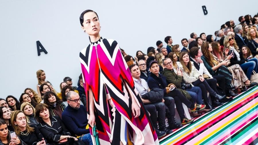 Desfile de outono/inverno 2016/17 da Salvatore Ferragamo na semana de moda de Milão - Getty Images