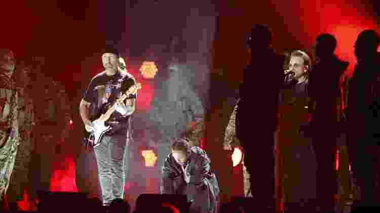 Kendrick se apresenta ao lado de Bono e The Edge do U2 - REUTERS/Lucas Jackson - REUTERS/Lucas Jackson