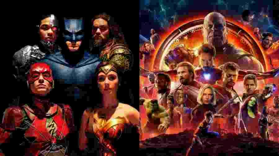A briga entre Marvel e DC parece mais viva do que nunca - Divulgação/Montagem UOL