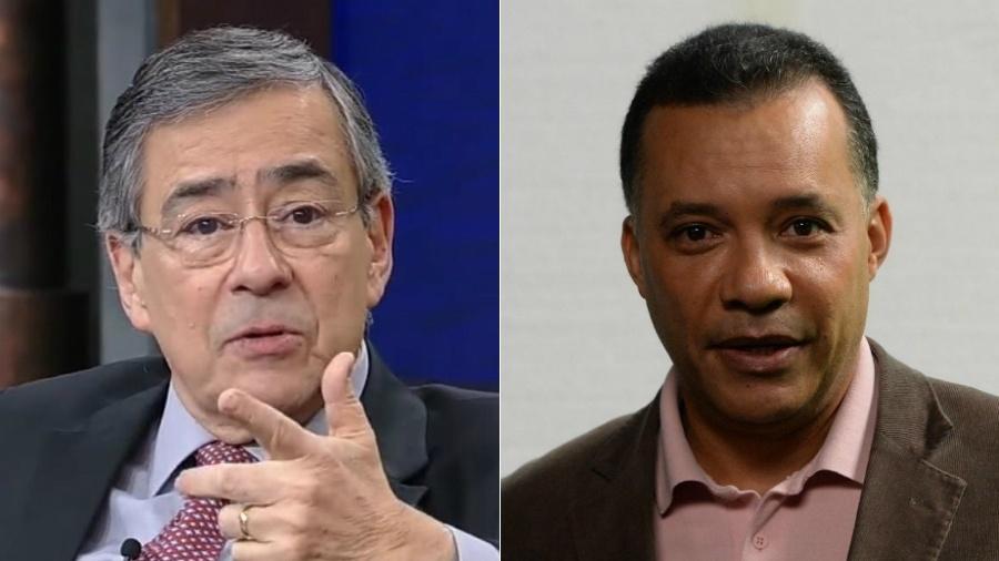 Os jornalistas Paulo Henrique Amorim e Heraldo Pereira - Reprodução/Zé Paulo Cardeal /TV Globo/Montagem UOL