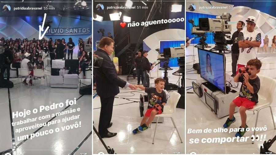 Patrícia Abravanel mostra o filho, Pedro, na gravação do Programa Silvio Santos - Reprodução/Instagram