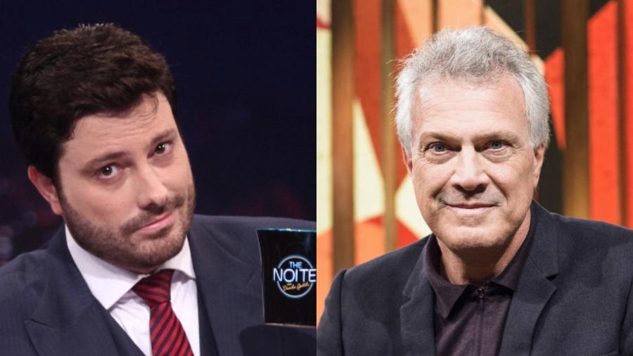 Silvio Santos elogiou o Danilo Gentili e falou da concorrência direta com o programa de Pedro Bial - Divulgação/Montagem UOL