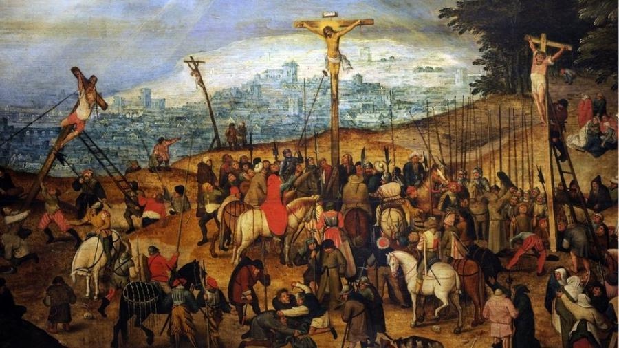 """""""Crucificação"""", quadro de Pieter Bruegel, o Jovem - Getty Images"""