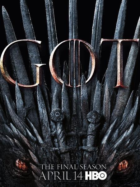 """Pôster da oitava temporada de """"Game of Thrones"""" - Reprodução/Twitter"""