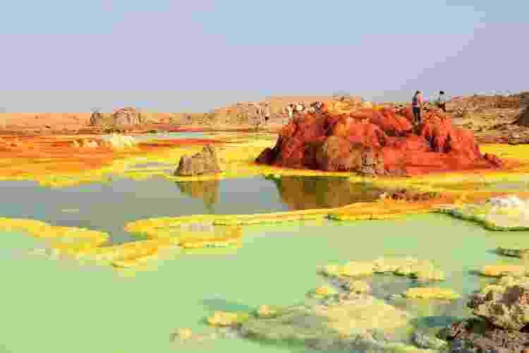 Paisagem da região de Dallol, uma das principais atrações da Depressão de Danakil - iStock - iStock