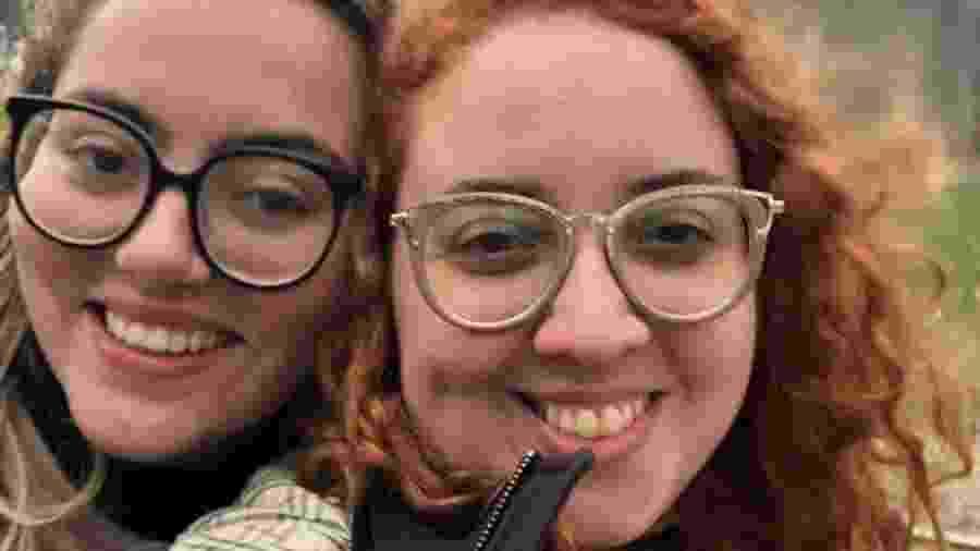 As namoradas Carolina e Mariana - Arquivo Pessoal