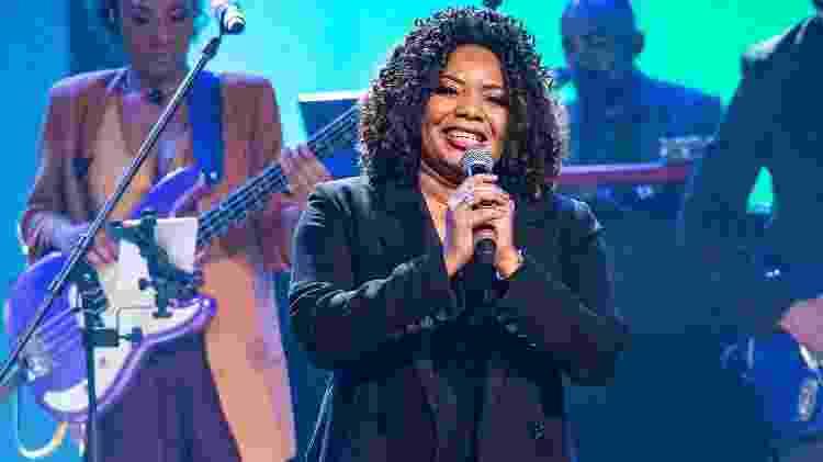 Margareth Menezes canta no programa Conversa com Bial - Fábio Rocha/TV Globo - Fábio Rocha/TV Globo