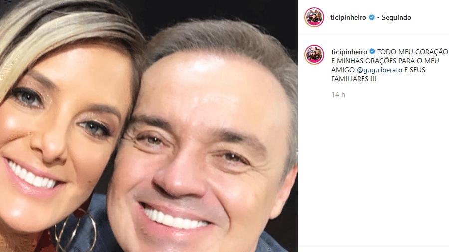 Ticiane Pinheiro muda legenda de post sobre Gugu e bloqueia comentários - Reprodução/Instagram