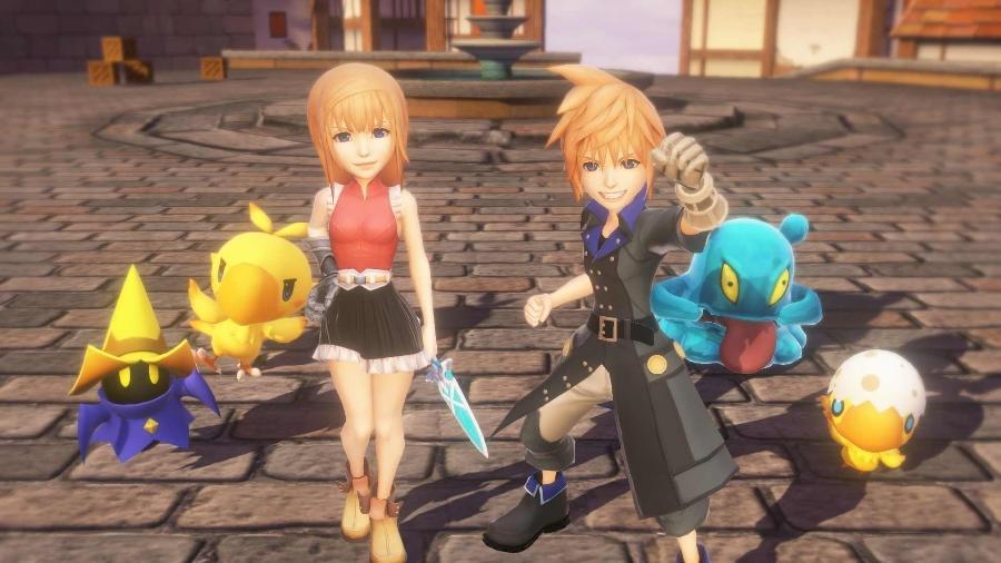 """Fofura e referências aos jogos da franquia """"Final Fantasy"""" clássicos são os trunfos do novo RPG - Reprodução"""