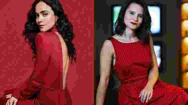 Alice Braga e Bianca Comparato - montagem com fotos de Gil Inoue e Zanone Fraissat/Folhapress - montagem com fotos de Gil Inoue e Zanone Fraissat/Folhapress