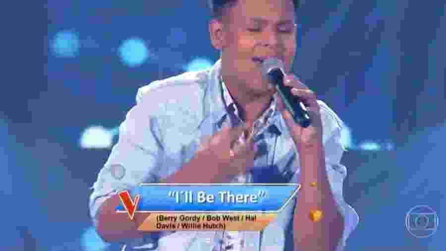 Davi Anderson, participante do The Voice Kids - Reprodução/TV Globo