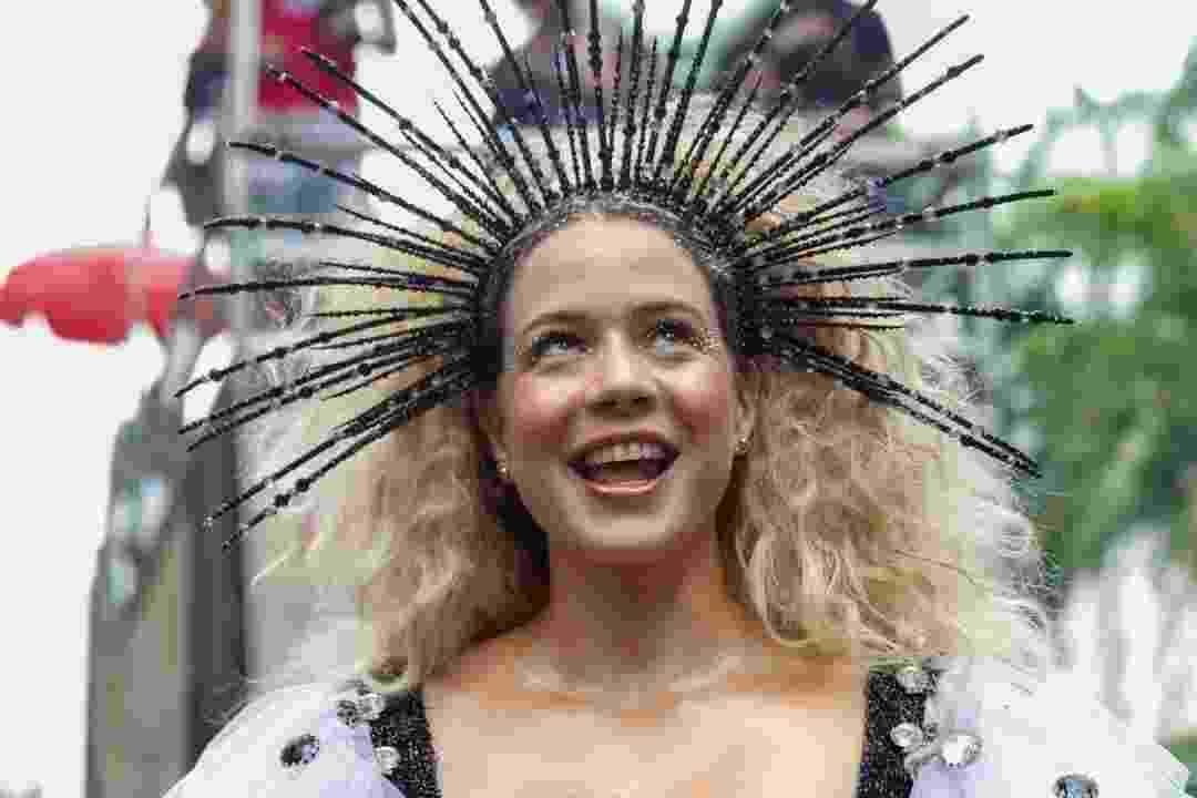 Leandra Leal mostra fantasia para o Cordão da Bola Preta, bloco do Rio - Marcelo de Jesus/UOL