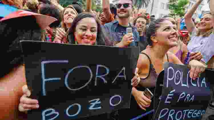 Foliões protestam - Marcelo Justo/UOL - Marcelo Justo/UOL