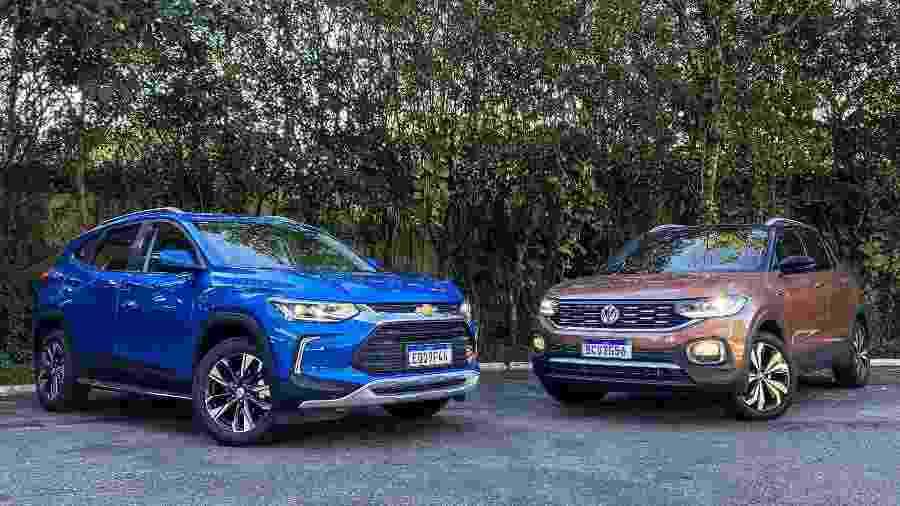 Chevrolet Tracker e VW T-Cross - Divulgação