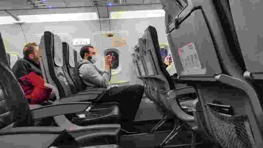 Devido à crise do coronavírus, voos internacionais partem praticamente vazios - Getty Images