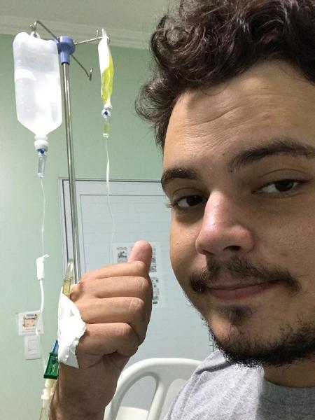 Cantor sertanejo Matheus Soliman passa por tratamento em hospital após ficar 24 dias perdido em floresta - Arquivo pessoal