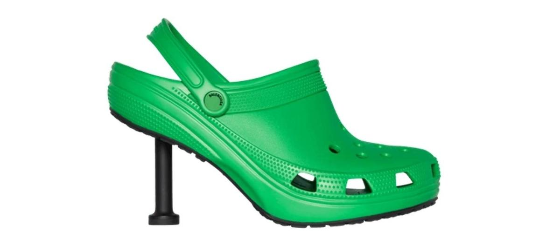 Balenciaga lançou nova colaboração com a Crocs, o calçado de borracha com salto alto - Divulgação/Balenciaga