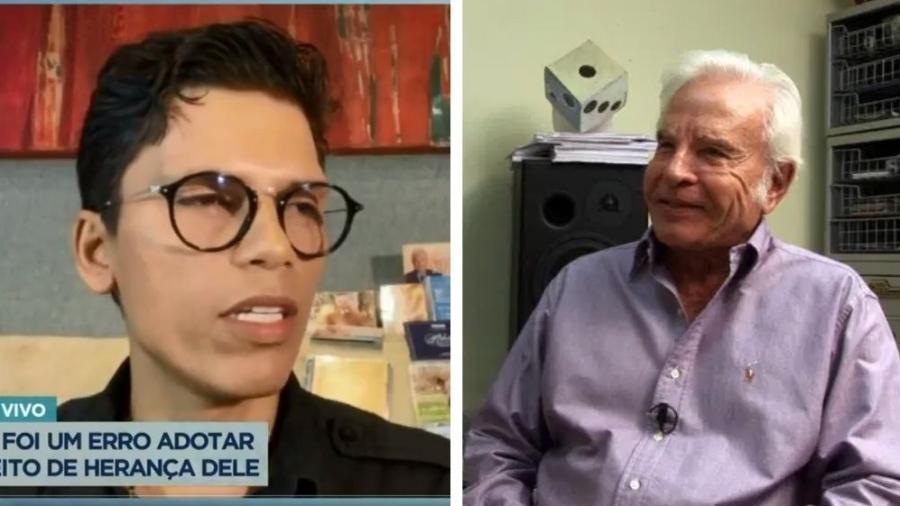 Roger Moreira diz que foi incentivado por Cid Moreira a largar os estudos - Reprodução