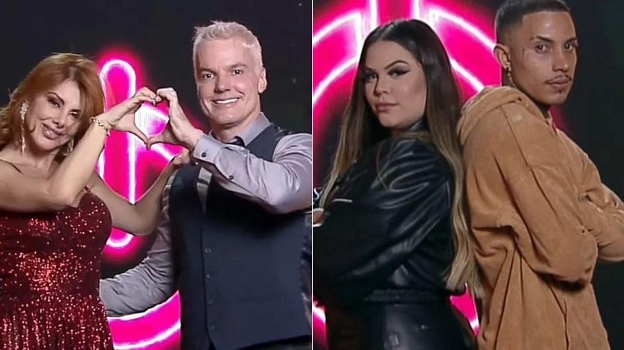 Power Couple: Deborah e Bruno e Mari e Matheus na final - Reprodução/RecordTV