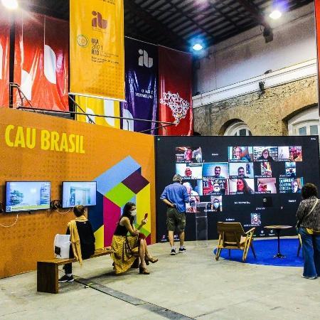 O UIA (27º Congresso Mundial de Arquitetos) aconteceu virtualmente no Rio entre 18 e 22 de julho - Tainá de Paula