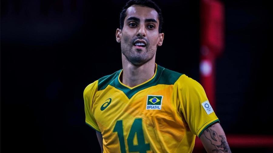 Douglas Souza, ponteiro da seleção brasileira de vôlei - Reprodução/Twitter/@DouglasCorreiaS