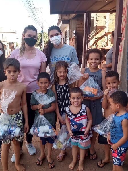 Ação realizada por estudantes da USP Ribeirão Preto auxilia mais de 100 famílias - Divulgação