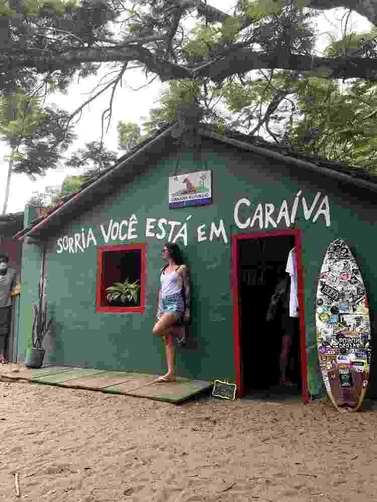 Com a foto clássica de Caraíva,  no Sul da Bahia -- roberta - Arquivo pessoal - Arquivo pessoal