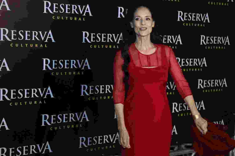 """24.ago.2016 - A atriz Sonia Braga, protagonista do filme """"Aquarius"""", do diretor Kleber Mendonça Filho, no cinema Reserva Cultura, em Niterói - Roberto Filho/Brazil News"""