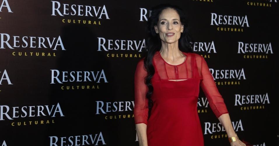 """24.ago.2016 - A atriz Sonia Braga, protagonista do filme """"Aquarius"""", do diretor Kleber Mendonça Filho, no cinema Reserva Cultura, em Niterói"""
