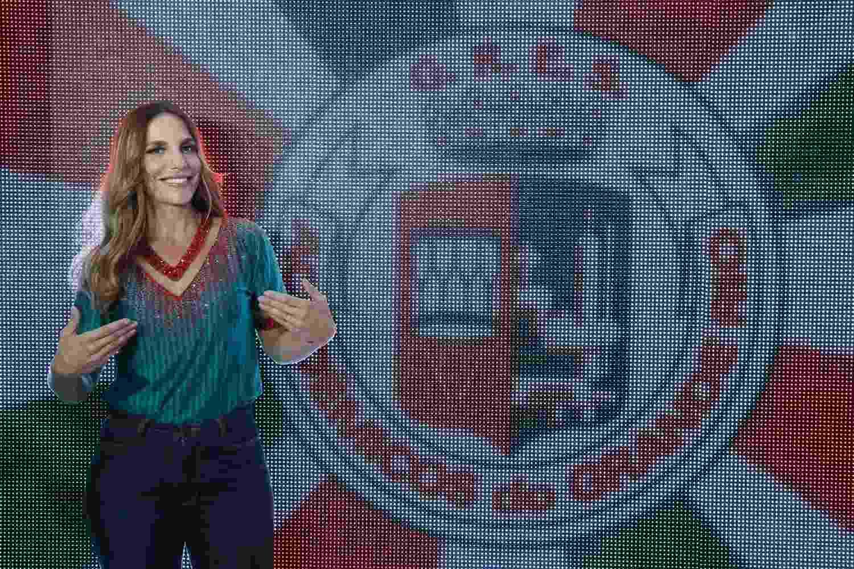 09.jan.2017 - Ivete Sangalo participa de coletiva de imprensa na Grande Rio, escola que vai homenageá-la na Sapucaí - AgNews