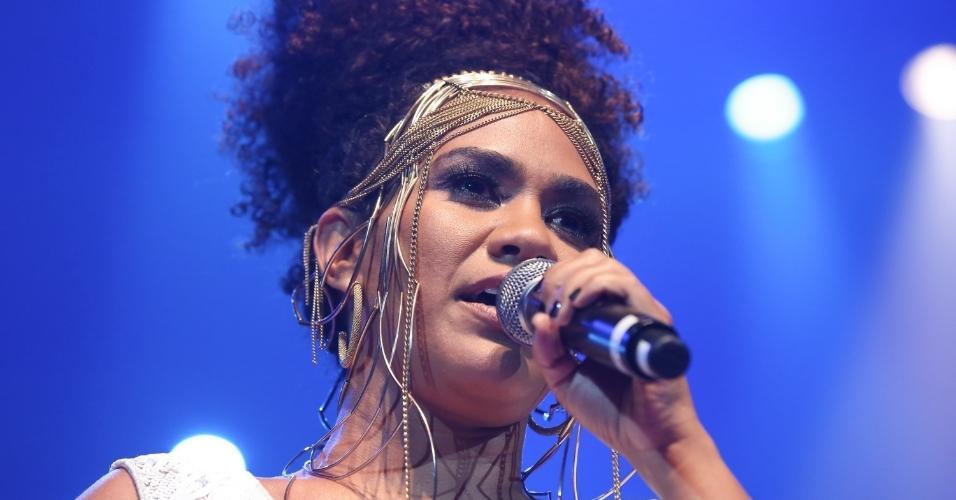 14.fev.2017 - A cantora Mariene de Castro participou do Show de Verão da Mangueira, realizado no Rio de Janeiro, no Vivo Rio