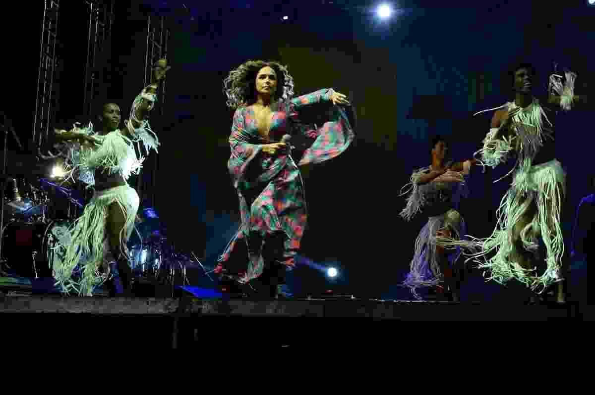 Daniela Mercury se apresenta na Virada Cultural 2017 no palco do Sambódromo do Anhembi, na zona norte de São Paulo - Francisco Cepeda/AgNews
