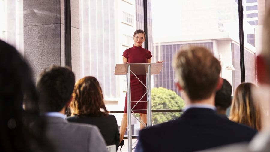 falar em público palestra apresentação - Getty Images