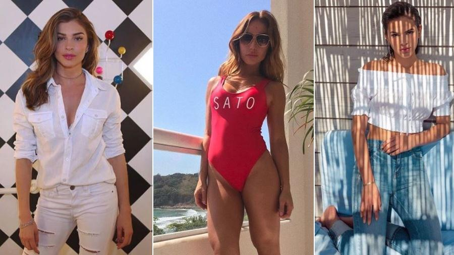Tudo branco, maiô cavado e ciganinha são algumas tendências de verão que Grazi, Sabrina e Marquezine estão desfilando por aí - Rerodução/Instagram