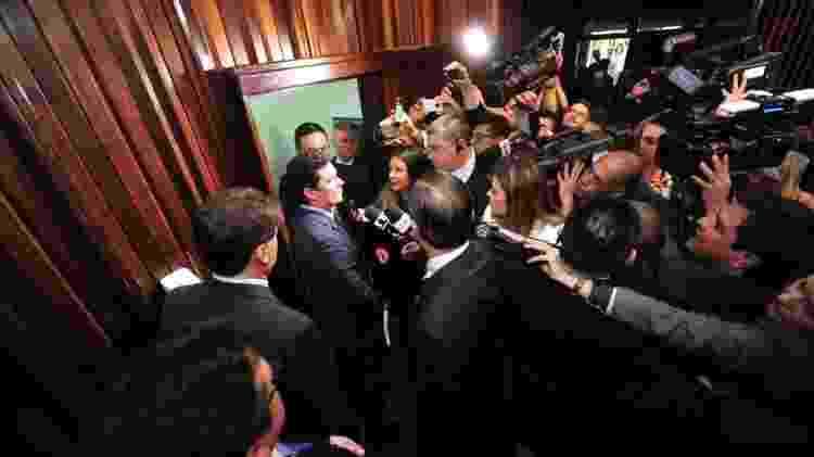 O juiz Sérgio Moro (centro) se tornou a face pública da Lava Jato - Pedro de Oliveira/Assembleia Leg. do Paraná - Pedro de Oliveira/Assembleia Leg. do Paraná