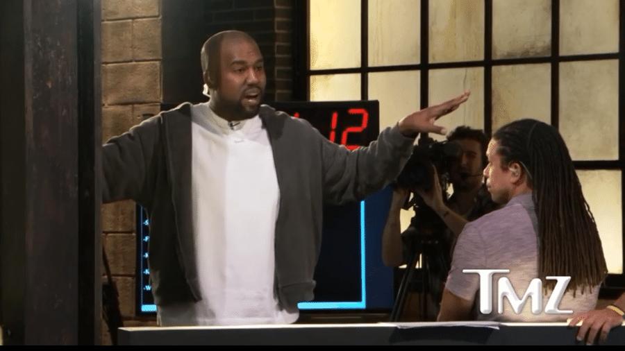 """Kanye West em entrevista ao """"TMZ"""" - Reprodução/TMZ"""