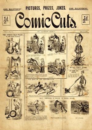 """""""Comic Cuts"""", considerada a primeira revista em quadrinhos"""