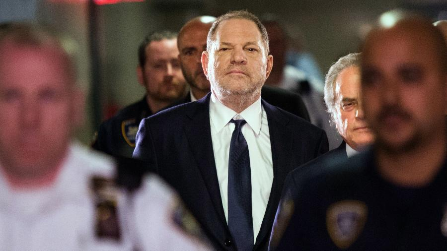 Harvey Weinstein chega à corte dos EUA para se declarar inocente da acusação de estupro - Eduardo Munoz Alvarez/AFP