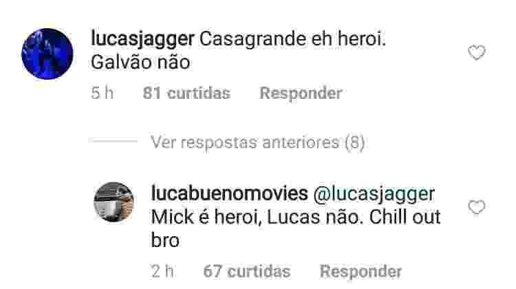 Filho de Jagger x filho de Galvão - Reprodução/Instagram - Reprodução/Instagram
