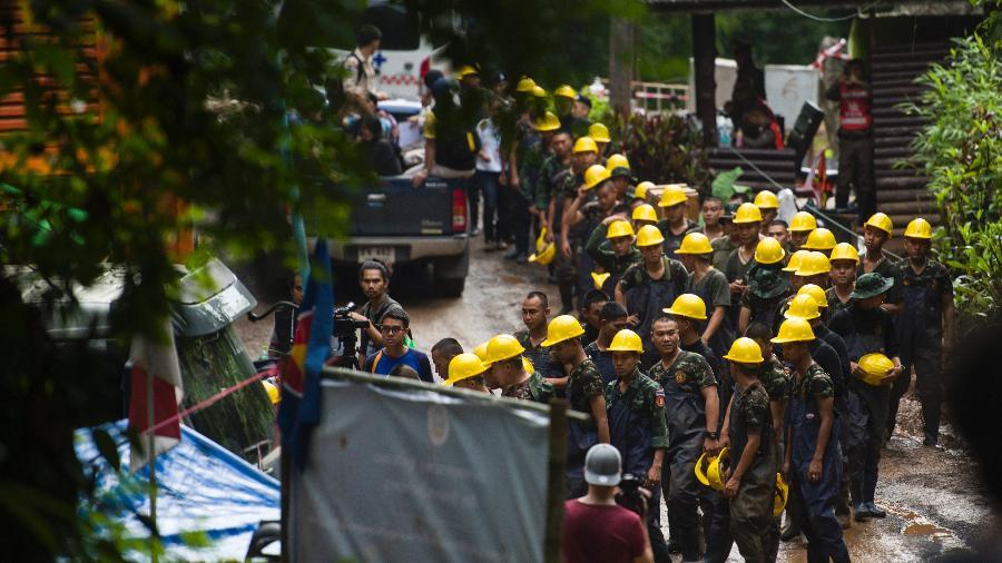 Cena do documentário sobre resgate de garotos em caverna na Tailândia, do Discovery Channel - Discovery/Divulgação