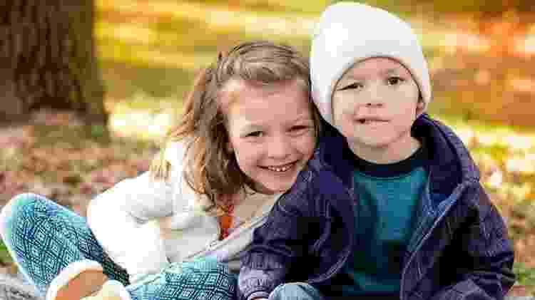 Garrett Matthias e sua irmã Delphine - Arquivo pessoal - Arquivo pessoal