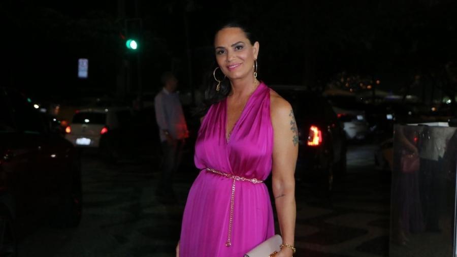 Luiza Brunet em coquetel beneficente da Fundação Laço Rosa - Daniel Pinheiro/AgNews